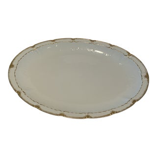 Haviland Co. Limoges Gold and White Platter For Sale