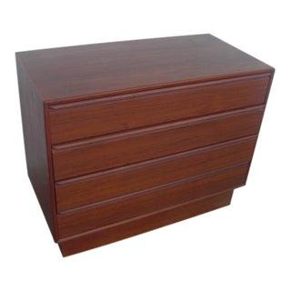 Westnofa Mid-Century Teak Plinth Base 4 Drawer Lowboy Dresser For Sale