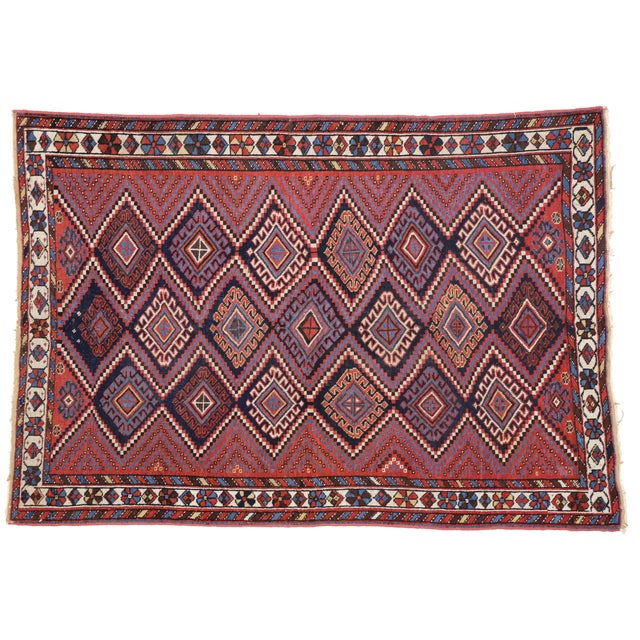 Antique Persian Afshar Rug with Modern Tribal Style, 4'3x6' For Sale In Dallas - Image 6 of 6
