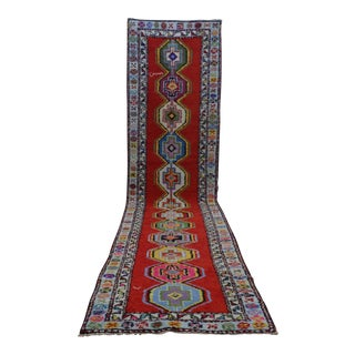 Kurdish Hand-Knotted Runner Rug - 2′8″ × 11′9″