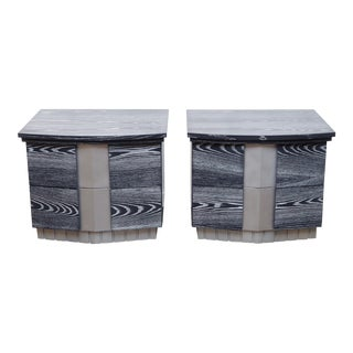 Pair of Cerused End Tables/Night Tables For Sale