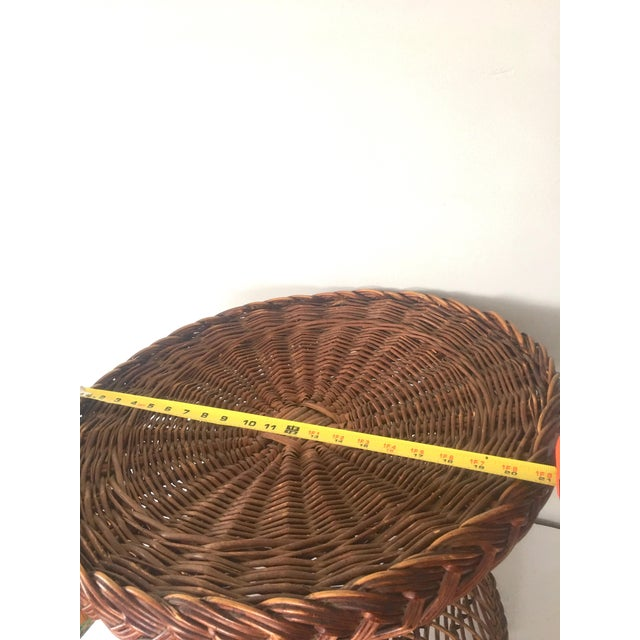 Vintage Bielecky Brothers Boho Rattan Round Coffee / Side Table For Sale In New York - Image 6 of 13