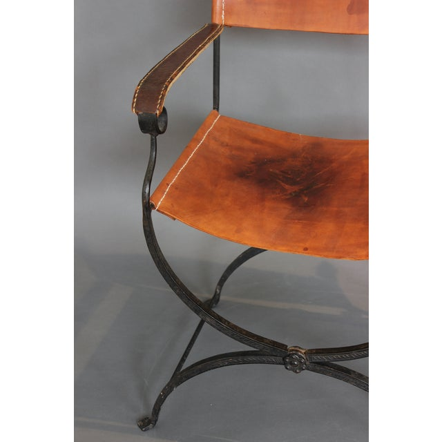 1950s Vintage Italian Renaissance Savonarola Chair For Sale In Chicago - Image 6 of 13