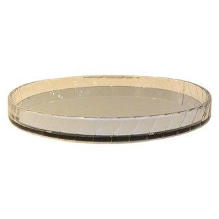 Art Deco / Mid Century Modern Oval Acrylic, Mirror and Velvet Vanity Tray