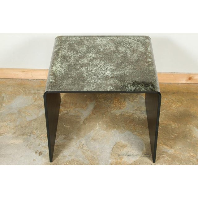 Waterfall Reverse Painted Glass Side Table - Image 6 of 6