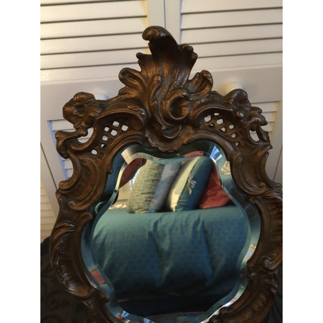 1800s Antique Louis XV Style French Vanity Mirror For Sale - Image 11 of 13