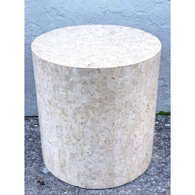 Maitland - Smith Late 20th Century Modern Tessellated Stone Pedestal by Maitland-Smith For Sale - Image 4 of 8