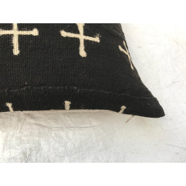 African Mali Tribal Cross Patterned Mud Cloth Pillows- A Pair For Sale - Image 9 of 10
