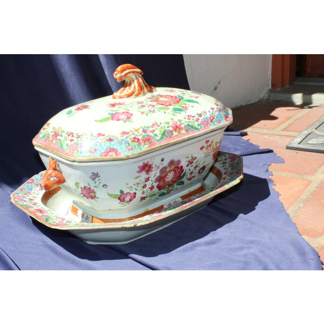 Asian 19th C. Chinese Export Tureen For Sale - Image 3 of 8