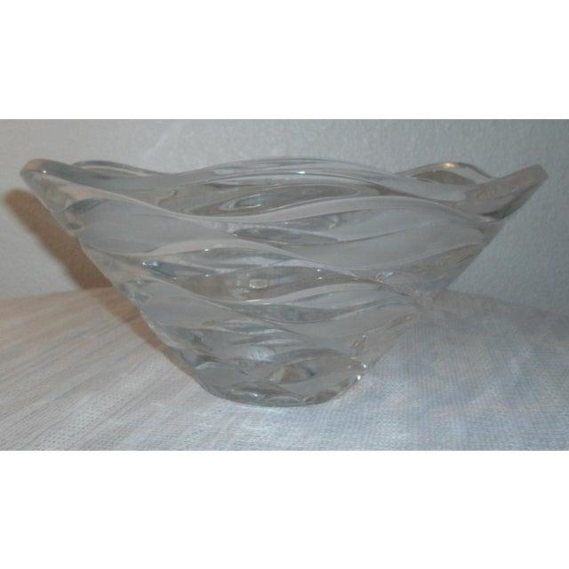 Glass Cristal D'Arques Jg Durand Crescendo Crystal Centerpiece Bowl For Sale - Image 7 of 7