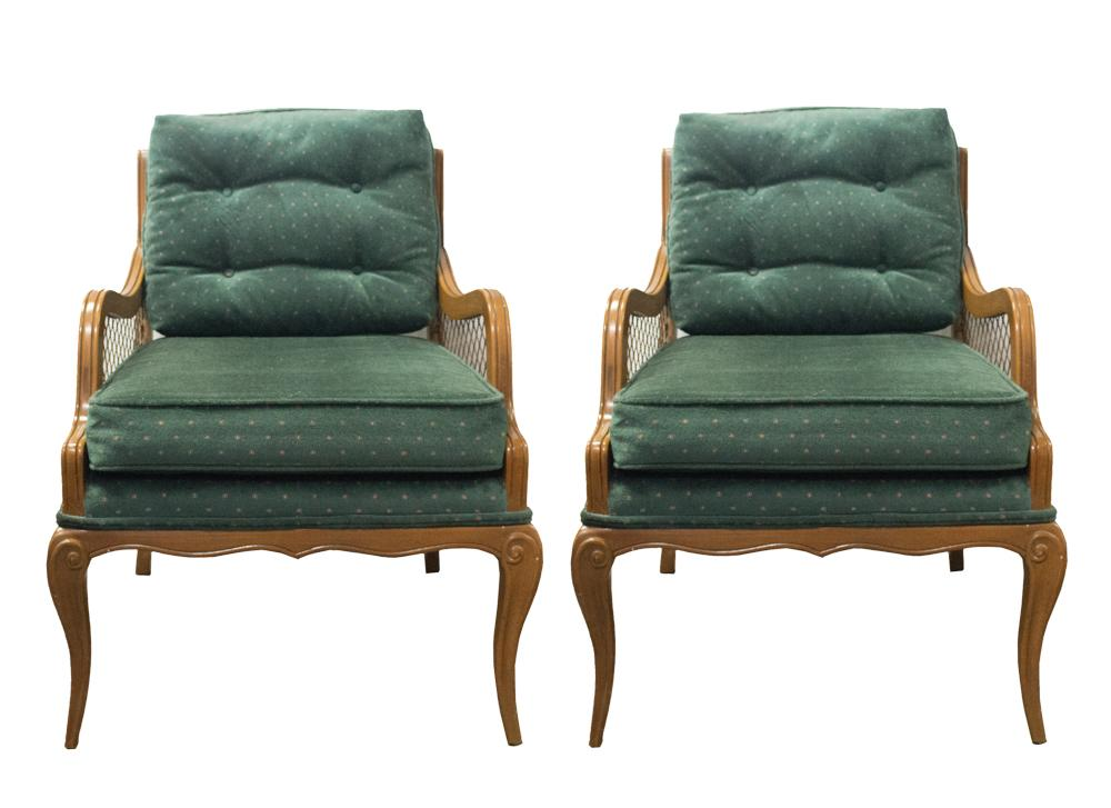 Mid Century Solid Wood Armchairs   A Pair   Image 1 Of 9