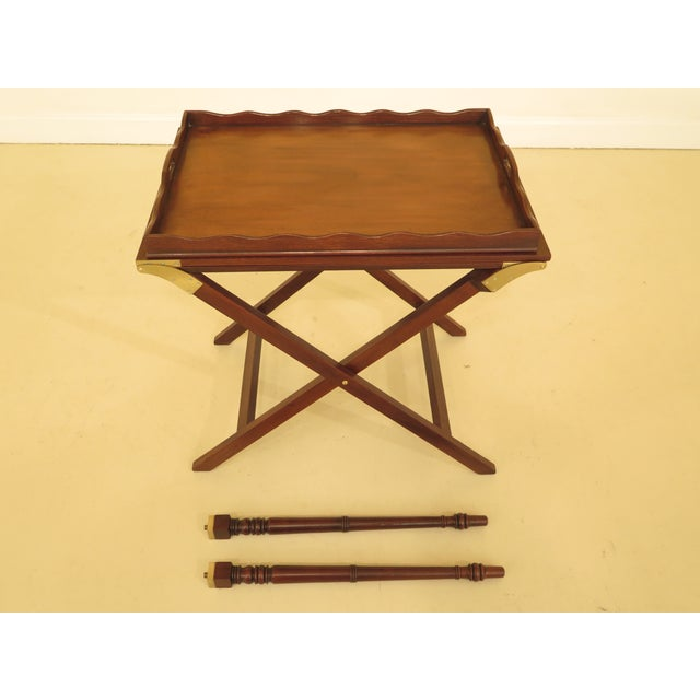 Baker Mahogany Serving Tray Table For Sale - Image 10 of 13