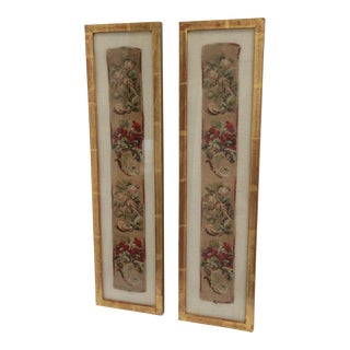 Framed Antique Textiles - A Pair For Sale