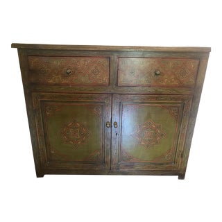 Arte de Mexico Hand Painted Green Dresser