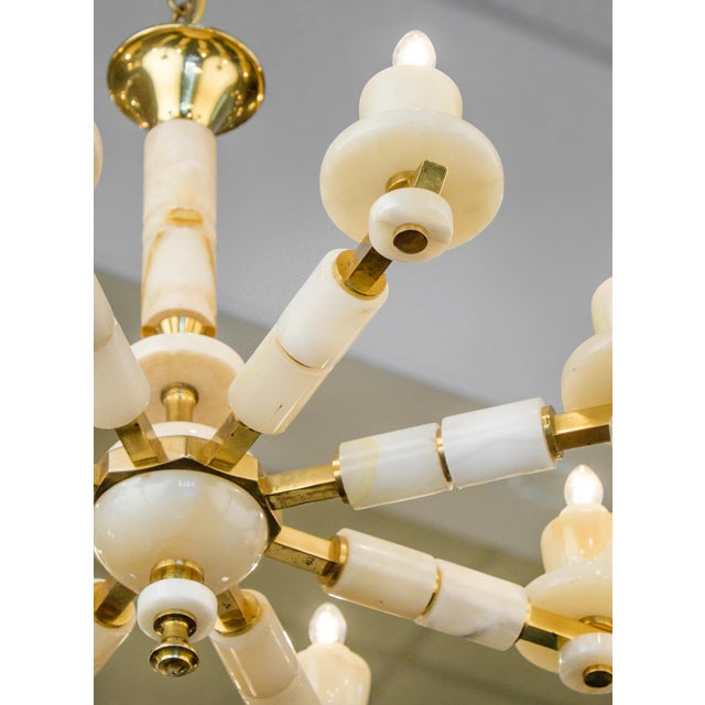 Onyx Brass Eight Arm Chandelier For Sale In Austin - Image 6 of 11