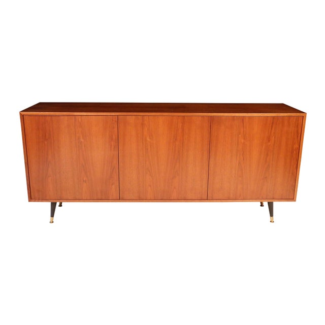 1970s Mid-Century Curated Danish Teak Credenza For Sale In New York - Image 6 of 8