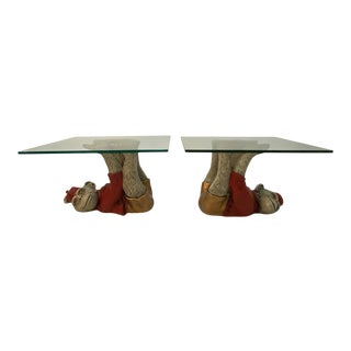 Monkey Motife End Tables Coffee Table -A Pair For Sale