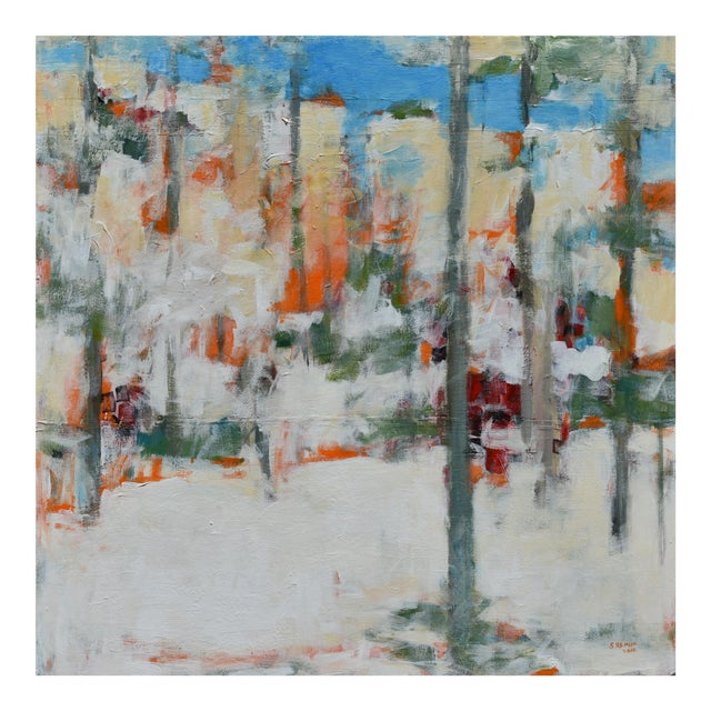 """Modern """"Hunters in the Snow"""" Abstract Painting by Stephen Remick For Sale"""