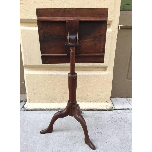 Georgian Georgian Mahogany Adjustable Dictionary / Music Stand With Carved Shoe Feet For Sale - Image 3 of 9
