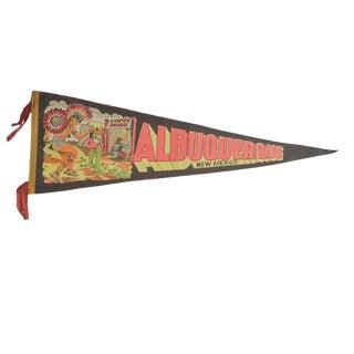 Vintage Albuquerque New Mexico Felt Flag Pennant
