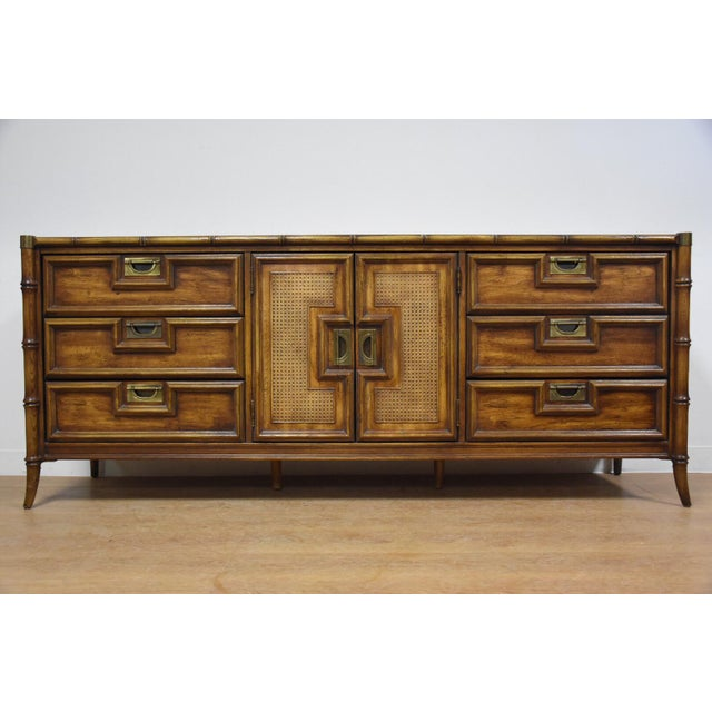 Stanley Faux Bamboo Hollywood Regency Dresser - Image 2 of 11