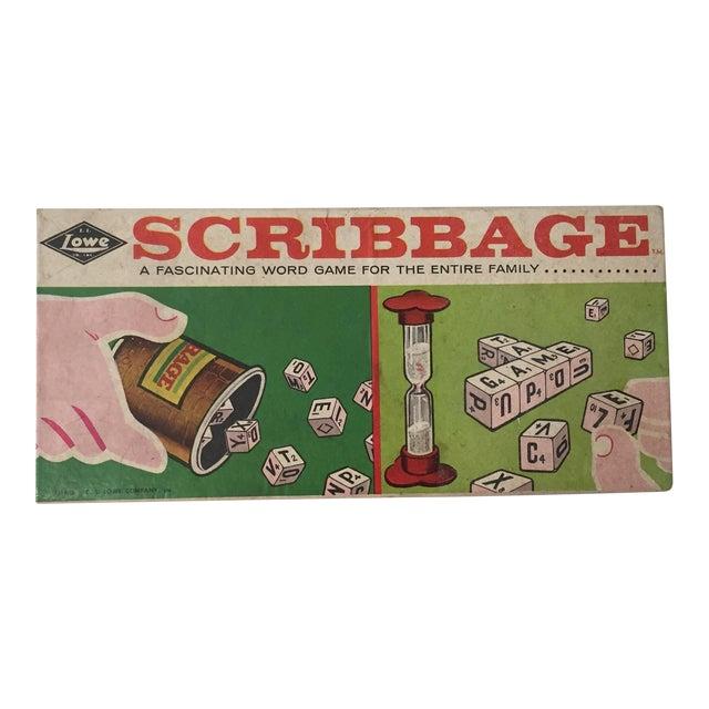1963 Original Scribbage Word Game For Sale