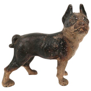 Boston Terrier Cast Iron Bank For Sale