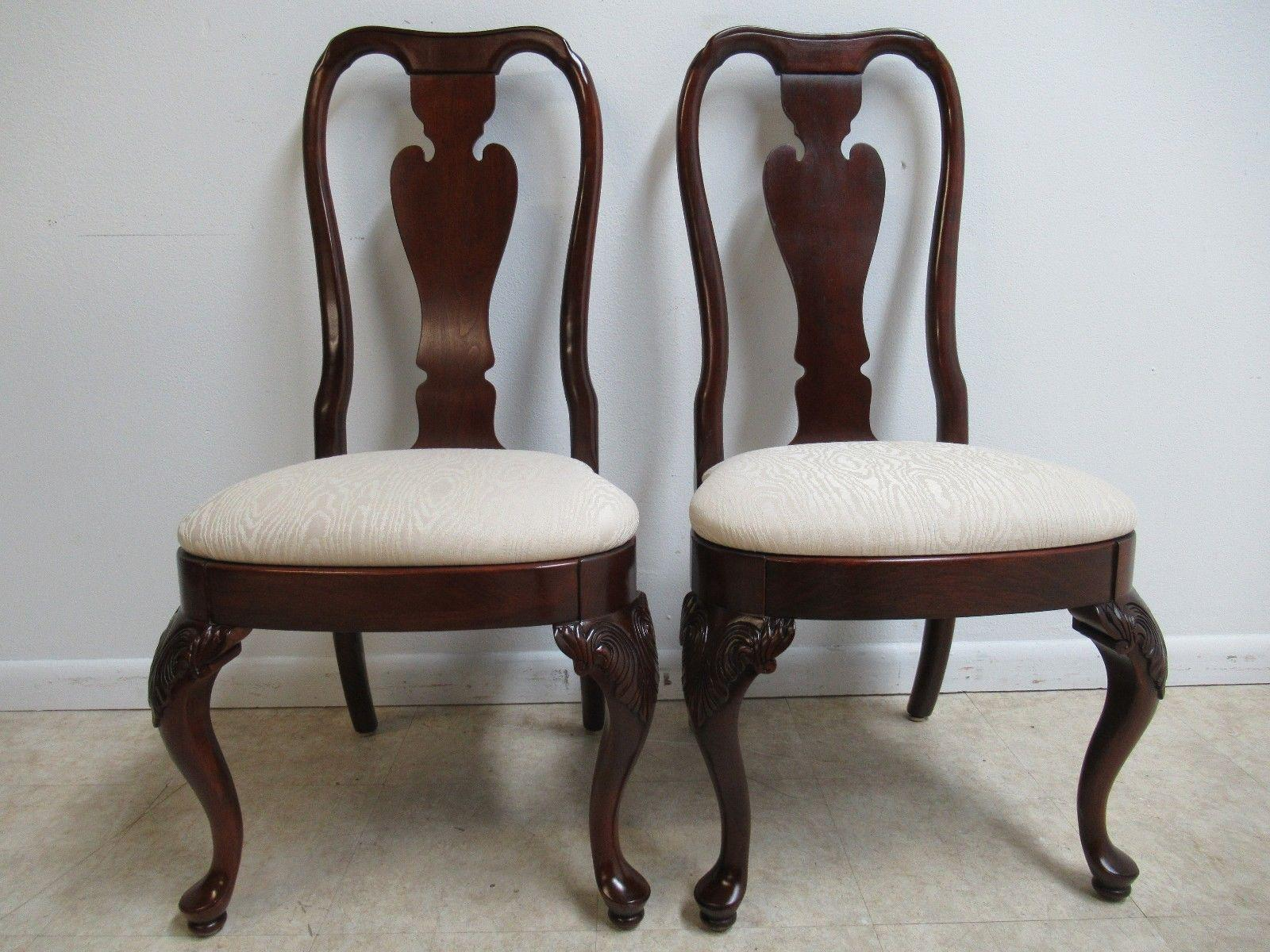 Knob Creek Queen Anne Dining Side Chairs   A Pair   Image 11 Of 11