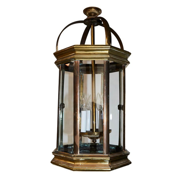 Pair of English Lantern Hanging Lamps For Sale - Image 9 of 9