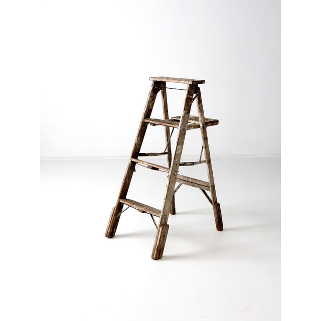 Vintage Rustic Wooden Painter's Ladder - Image 5 of 11