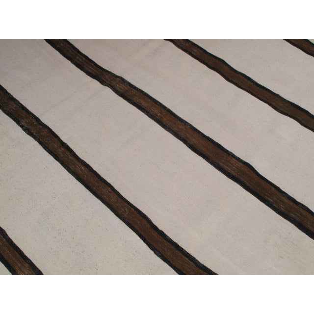 Early 20th Century Banded Kilim Wide Runner For Sale - Image 5 of 7
