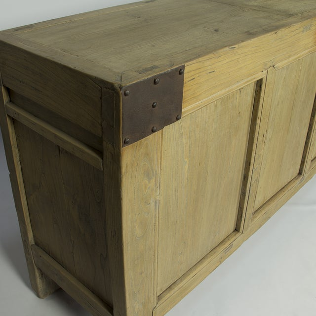 Handcrafted Rustic Wood Sideboard - Image 3 of 3