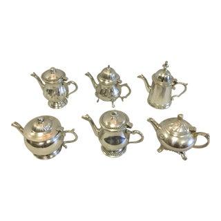 Vintage Miniature Tea Pots- a Set of 6 For Sale