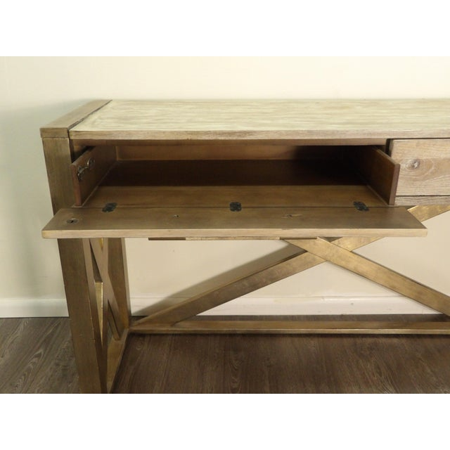 Hooker Furniture Hooker Furniture Large Two Drawer Console Table For Sale - Image 4 of 7