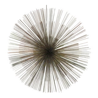 Curtis Jere Metal Starburst Wall Sculpture For Sale