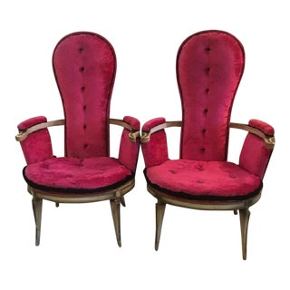Hollywood Regency Madame Chairs - A Pair