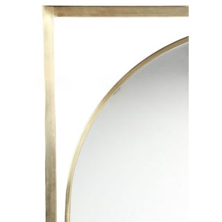 Arched Brass Framed Mirror in Open Rectangular Frame Preview
