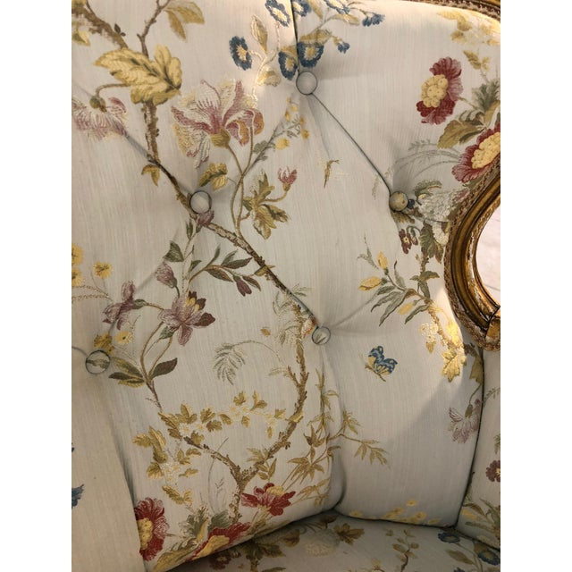 Antique French Victorian Settee For Sale - Image 5 of 6