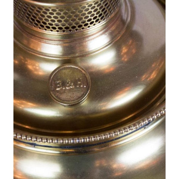 Bradley Hubbard Bradley and Hubbard Brass and Cast Iron Table Lamp For Sale - Image 4 of 6