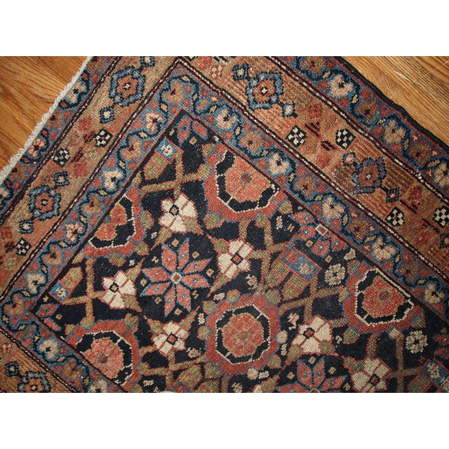 Tribal Antique Handmade Persian Hamadan Runner - 3' X 13' For Sale - Image 3 of 6