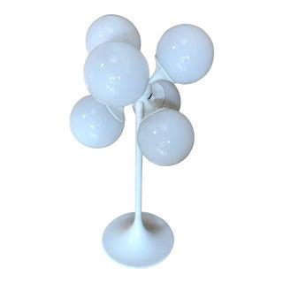White Globe Table Lamp by Lightolier