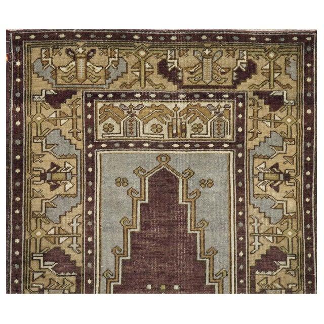Islamic Vintage Turkish Oushak Rug - 3′9″ × 6′9″ For Sale - Image 3 of 4