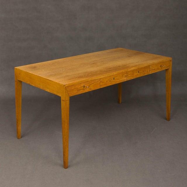 1960s Mid-Century Modern Severin Hansen Oak Writing Desk For Sale - Image 5 of 12