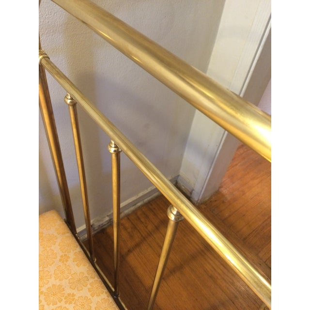 Vintage French Solid Brass Baby Crib For Sale - Image 9 of 11