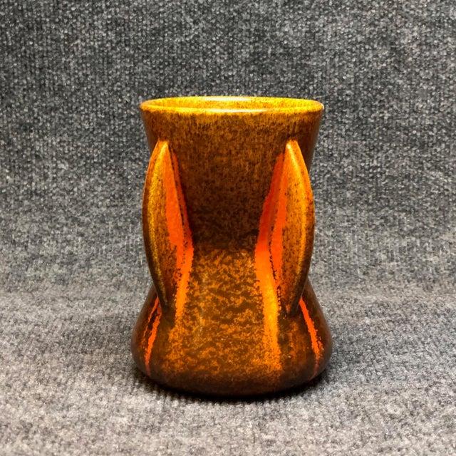 1930s Pfaltzgraff Art Deco Spanish Tile Glaze Vase For Sale - Image 5 of 5