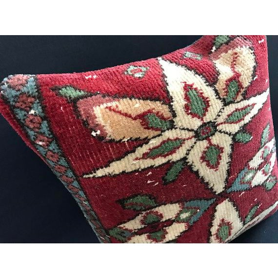 1960s Colorful Turkish Wool Bohemian Pillow Cover For Sale - Image 5 of 11