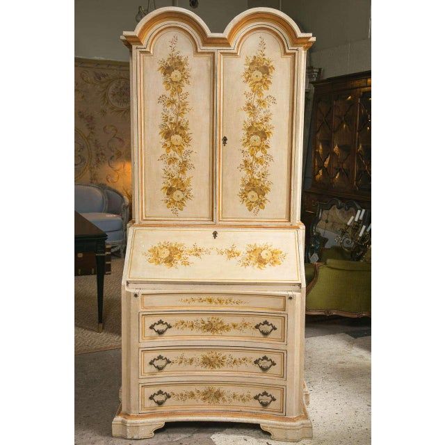 Italian Painted Secretary Desk For Sale - Image 10 of 10