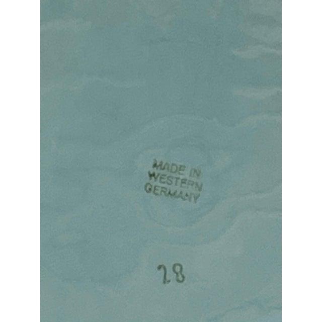Ceramic Aqua Majolica Platter, Germany For Sale - Image 7 of 9