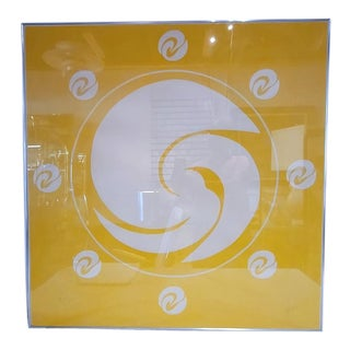 "1980s Jack Youngerman ""Orbit (Yellow)"" Signed Silkscreen Pochoir & Intaglio= Framed For Sale"