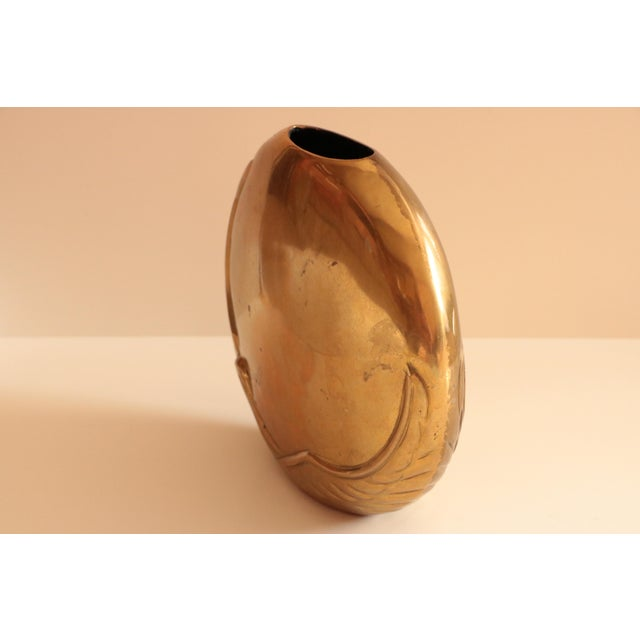 Brass Dara International Brass Swan Vase For Sale - Image 7 of 8